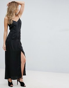 Read more about Amy lynn maxi lace slip dress - black