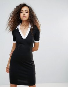 Read more about Unique21 contrast sporty dress - black