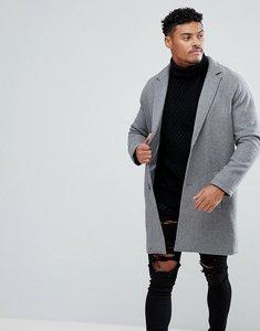 Read more about Bershka wool overcoat in grey - grey