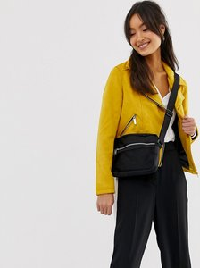 Read more about New look suedette biker jacket - dark yellow