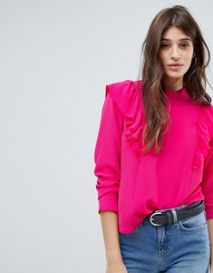 Read more about Jdy frill blouse - purple