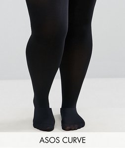 Read more about Asos curve 2 pack 80 denier tights - black