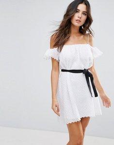Read more about Little white lies veronique cold shoulder dress - white