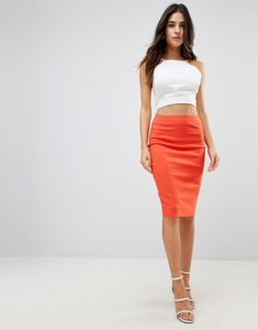 Read more about Asos design high waisted pencil skirt - red