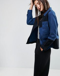 Read more about Ymc patchwork workwear jacket - indigo black