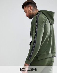 Read more about Rose london hoodie in khaki with taping - khaki