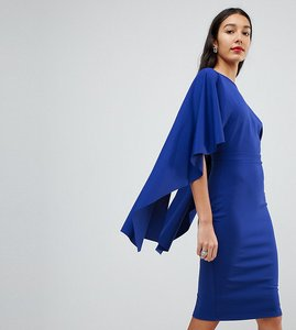 Read more about City goddess tall midi dress with ruffle sleeve - sapphire blue