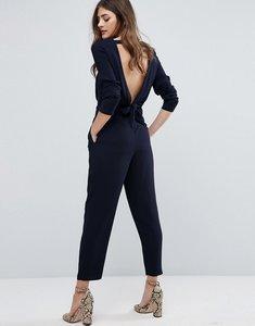 Read more about Miss selfridge tie back jumpsuit - navy