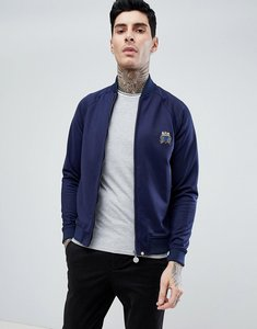 Read more about Pretty green seafire zip tricot track jacket in navy - navy