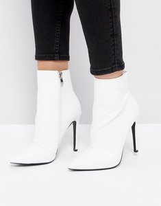 Read more about Public desire harlee white pointed ankle boots - white