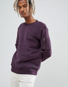 Read more about Lee sleeve pocket crew sweatshirt - purple