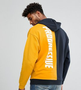 Read more about Asos tall oversized hoodie with colour block back print - coleman