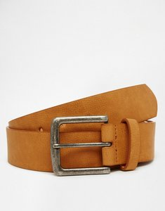 Read more about Asos belt in tan faux leather - tan