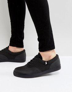 Read more about Polo ralph lauren vernon trainers mesh in black - black
