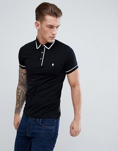 Read more about French connection piping polo shirt - black
