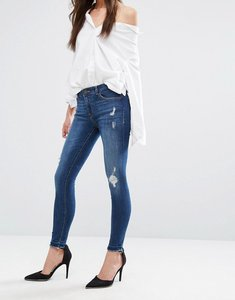 Read more about Dl1961 florence skinny jean with abrasions amd fray hem - strive