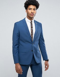 Read more about Farah skinny suit jacket in blue - blue