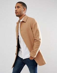 Read more about Asos design wool mix trench coat in camel - camel