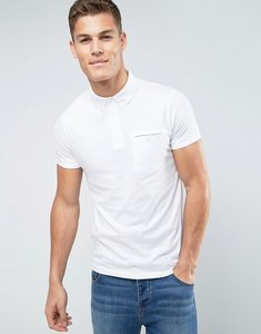 Read more about French connection concealed pocket polo shirt - white