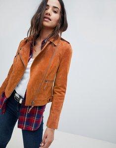 Read more about Asos suede biker jacket - brown