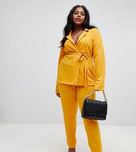 Read more about Lasula plus cigarette trouser in yellow