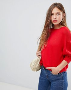 Read more about Asos oversized jumper with crew neck - red