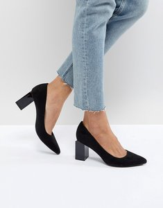 Read more about Stradivarius square heel pointed shoe - black