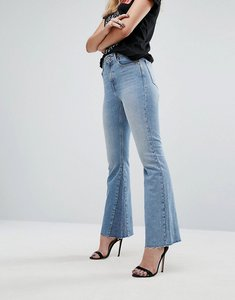 Read more about Replay crop flare jean with seam detail - light wash