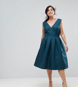 Read more about Chi chi london plus midi dress - green