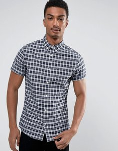 Read more about Burton menswear slim short sleeve smart check shirt - navy