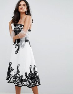 Read more about Forever unique border strapless dress - white