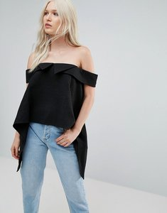 Read more about N12h cruise cold shoulder blouse - black