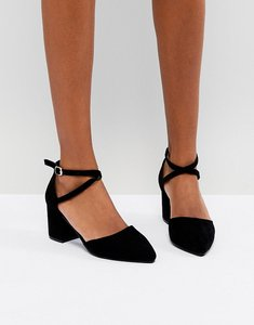 Read more about Oasis block heel pointed toe shoes - black