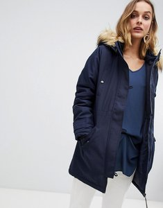Read more about Vero moda faux fur trim parka - navy blazer