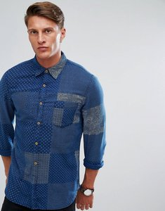 Read more about French connection shirt with patch print - mid blue