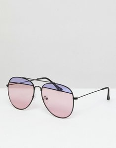 Read more about Asos split lens aviator fashion sunglasses - multi