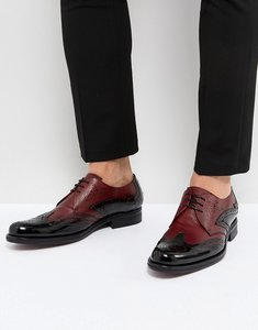 Read more about Jeffery west cordioni mixed leather brogue shoes in black - black