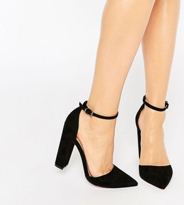 Read more about Asos penalty pointed high heels - black