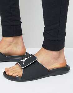 Read more about Nike air jordan hydro 6 slider flip flops in black 881473-011 - black