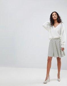 Read more about Y a s stripe skater skirt - white black stripe