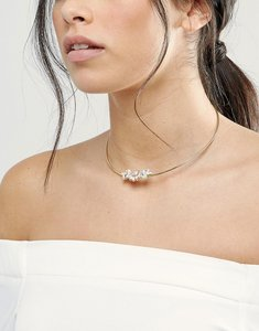 Read more about Johnny loves rosie blush stone choker necklace - blush