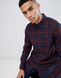 Read more about Farah eader check shirt in red - red