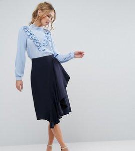 Read more about Closet ruffle detail pencil skirt - navy
