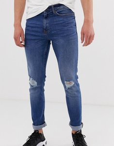 Read more about New look skinny jeans with knee rips in blue wash