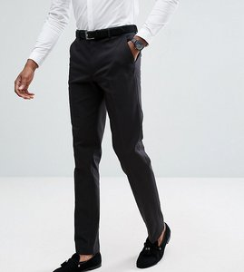 Read more about Asos design tall slim tuxedo suit trousers in black - black