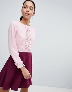 Read more about Ted baker steyla ruffle dress - dusky pink