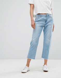Read more about Esprit straight fit distressed jeans - light blue