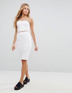 Read more about Parisian denim pencil skirt - white