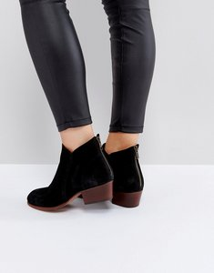 Read more about Hudson london apisi black suede mid heeled ankle boots - black suede