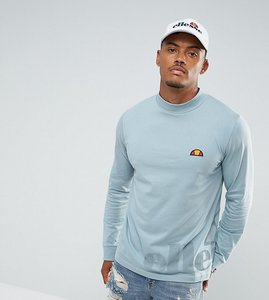 Read more about Ellesse long sleeve t-shirt with large logo in blue - blue